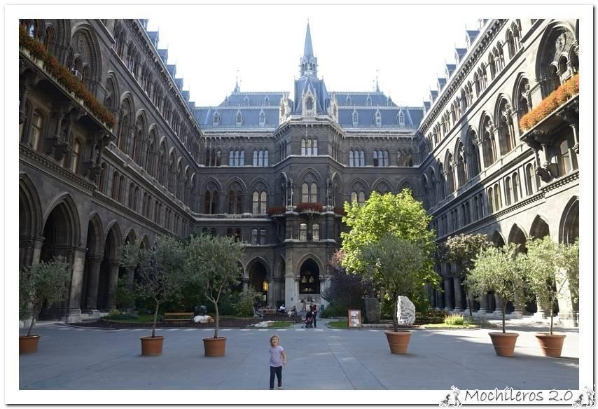 Ayuntamiento, Hofburg, Burg Garten, Biblioteca Nacional y San Esteban