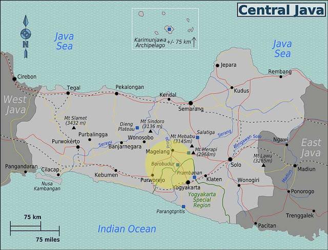 mapa java central