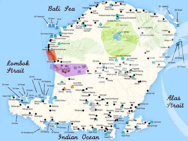 secret gili map