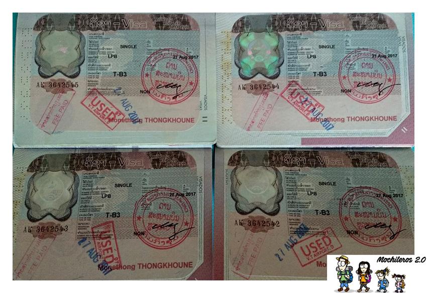 visados on arrival laos