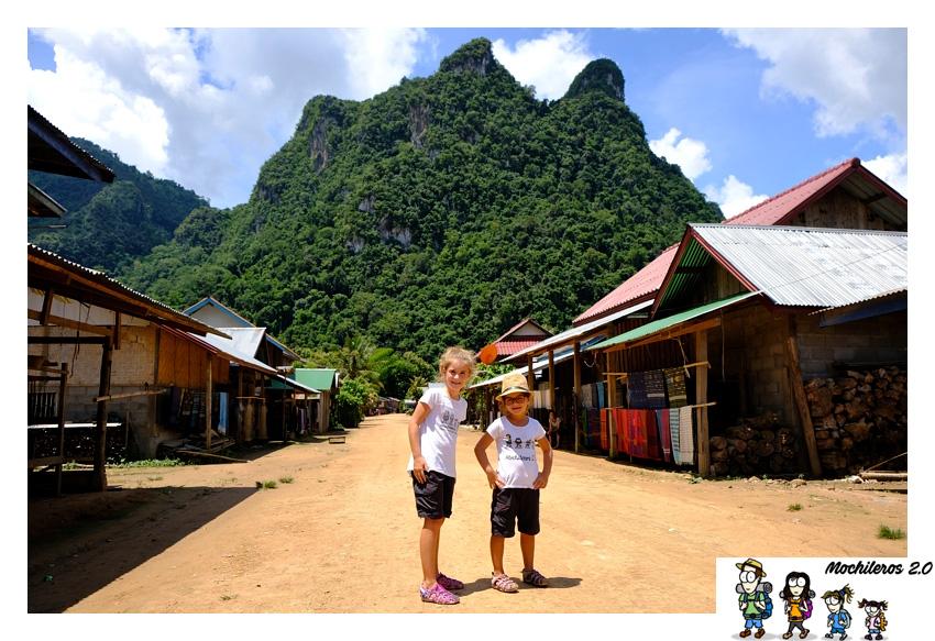 Laos con niños