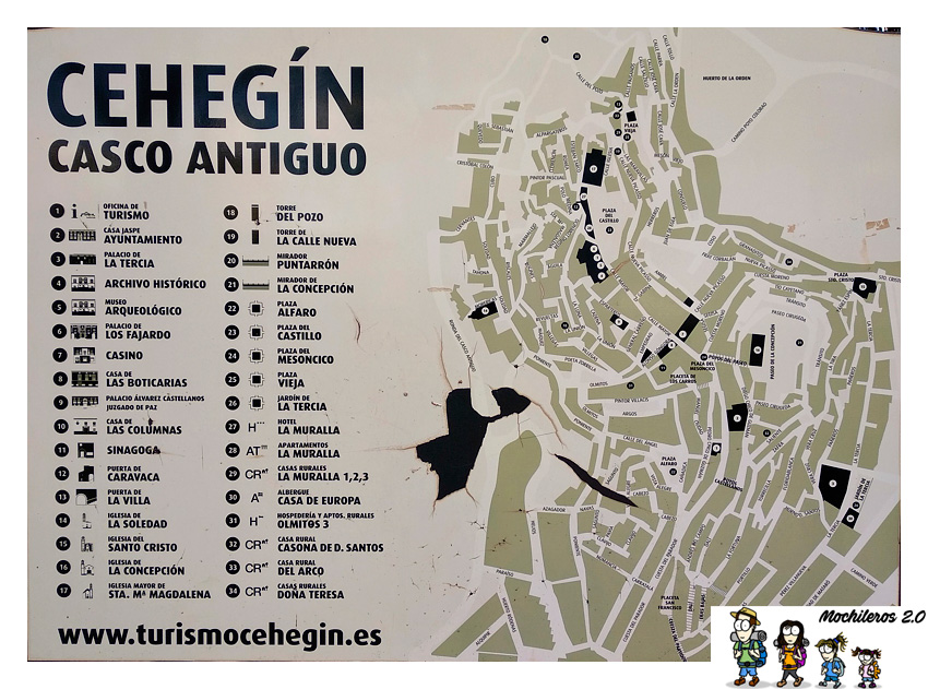 cehegin plano casco antiguo
