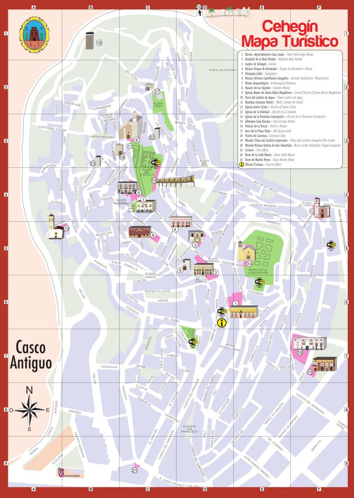 mapa turistico cehegin