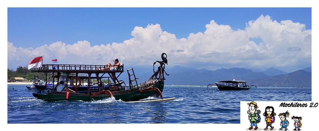 Excursión en barco para hacer snorkel por las Gili