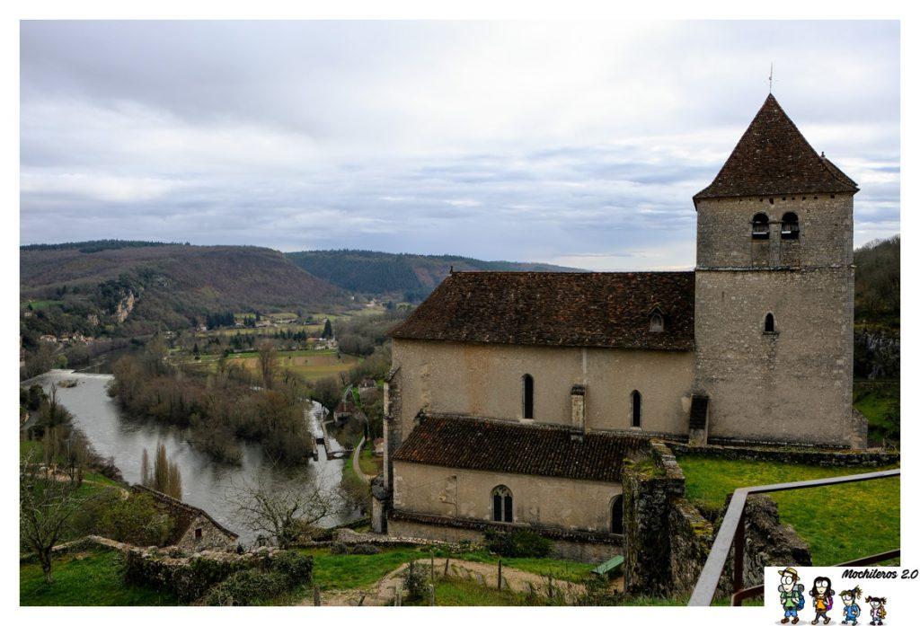 iglesia saint cirq lapopie