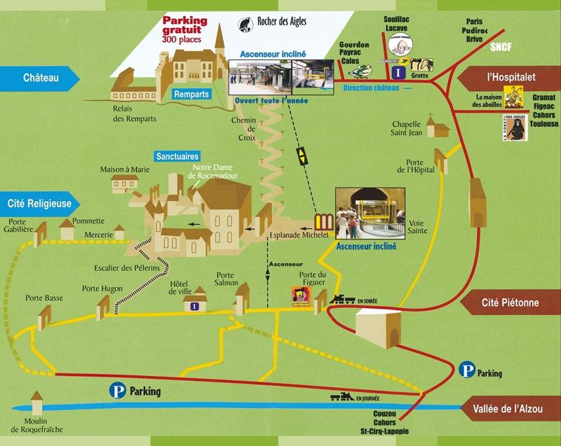 mapa rocamadour