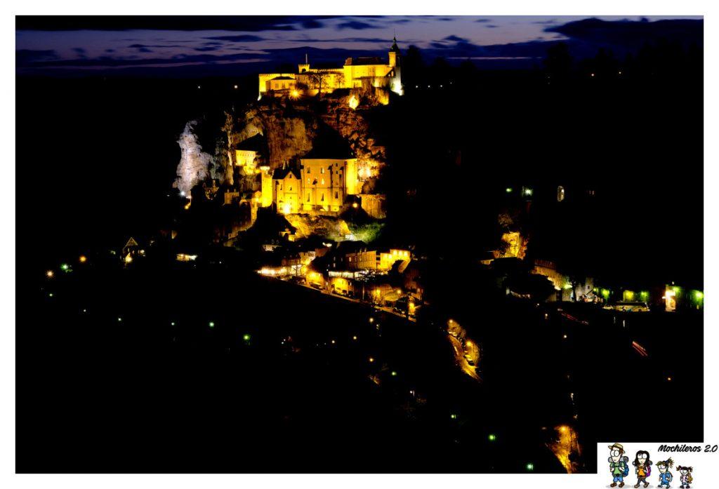 rocamadour vista nocturna