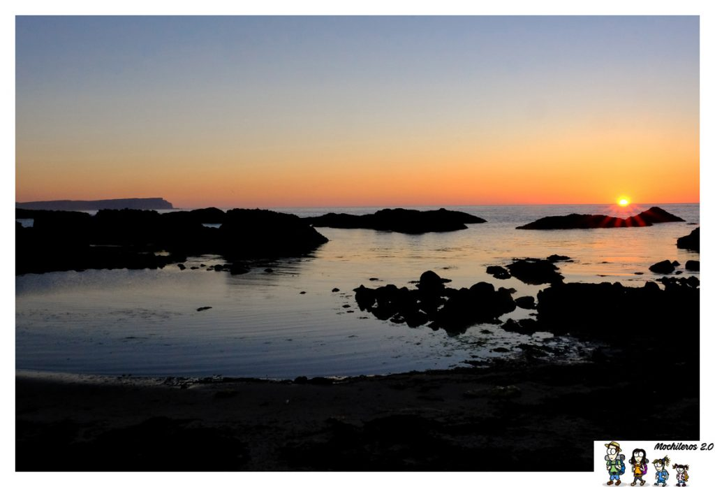 ballintoy harbour sunset