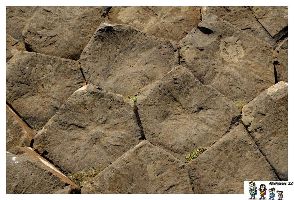 formaciones hexagonales calzada