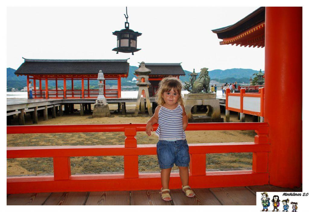 pasillo templo itsukushima