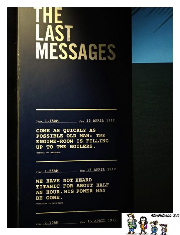 titanic mensajes