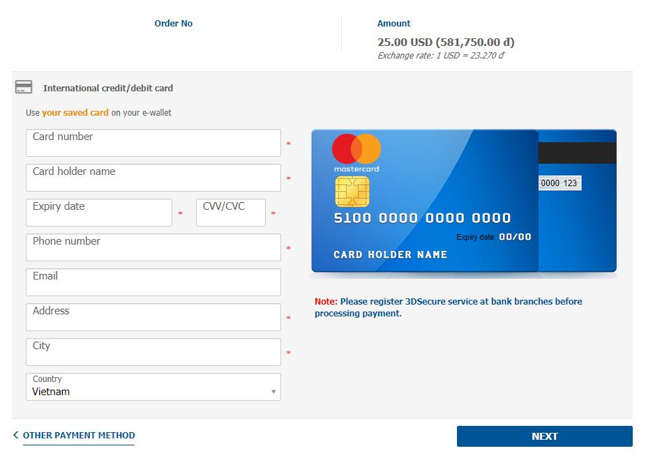pago visado online vietnam