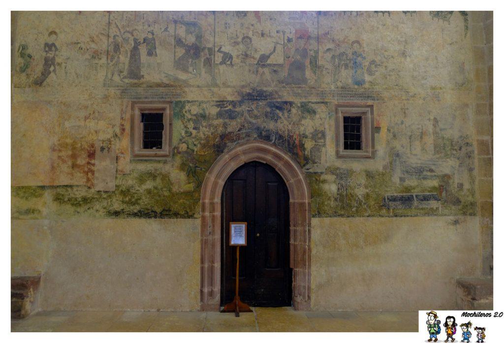 abadia sainte foy frescos