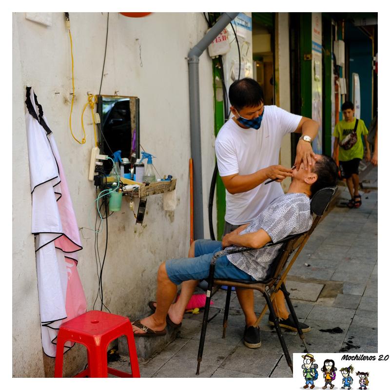 hanoi barbero calle