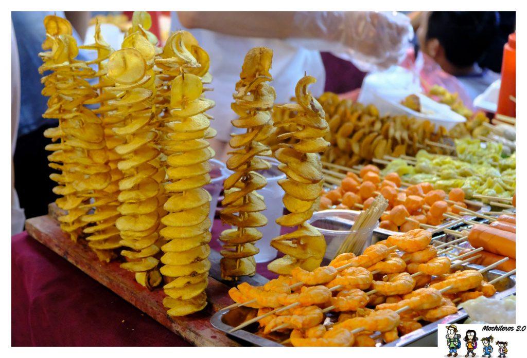 comer mercado nocturno hanoi