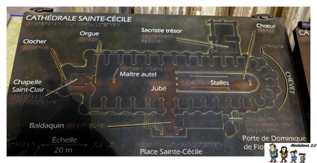 plano catedral albi