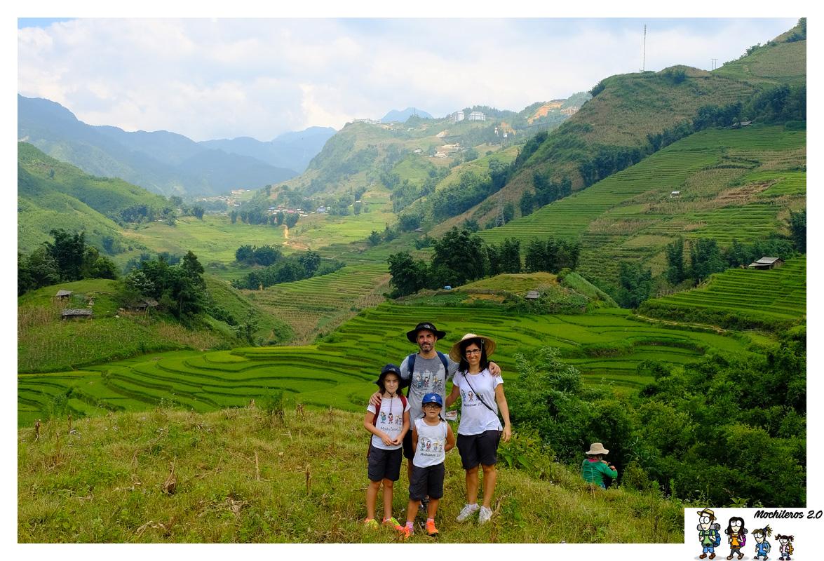 Sapa, montaña y arrozales en el norte de Vietnam