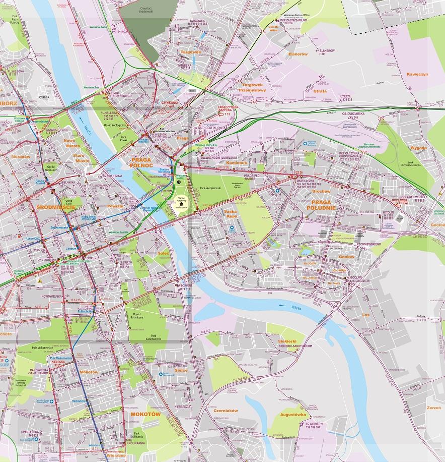 mapa bus varsovia