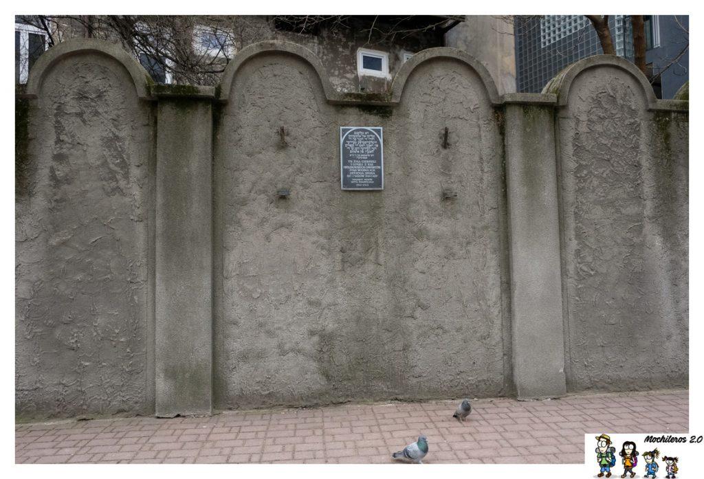 muro gueto judio cracovia