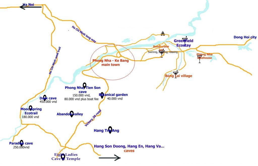 mapa phong nha