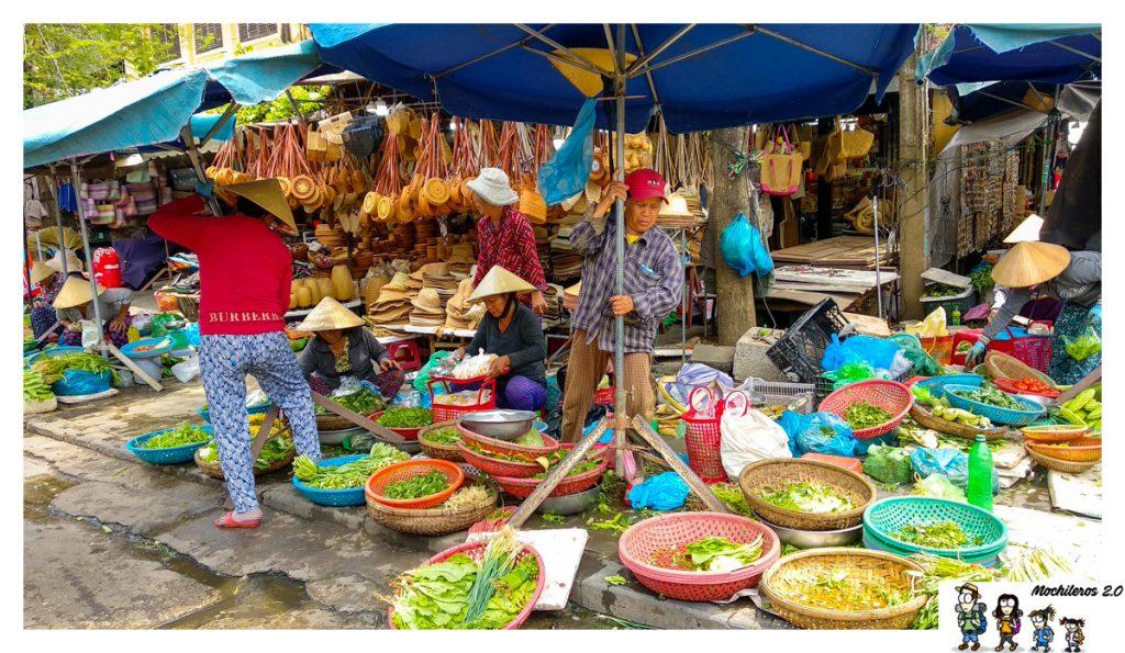 verduras mercado hoian