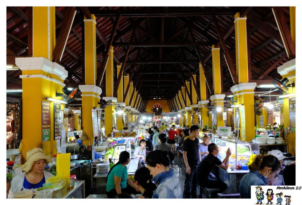 puestos comida mercado