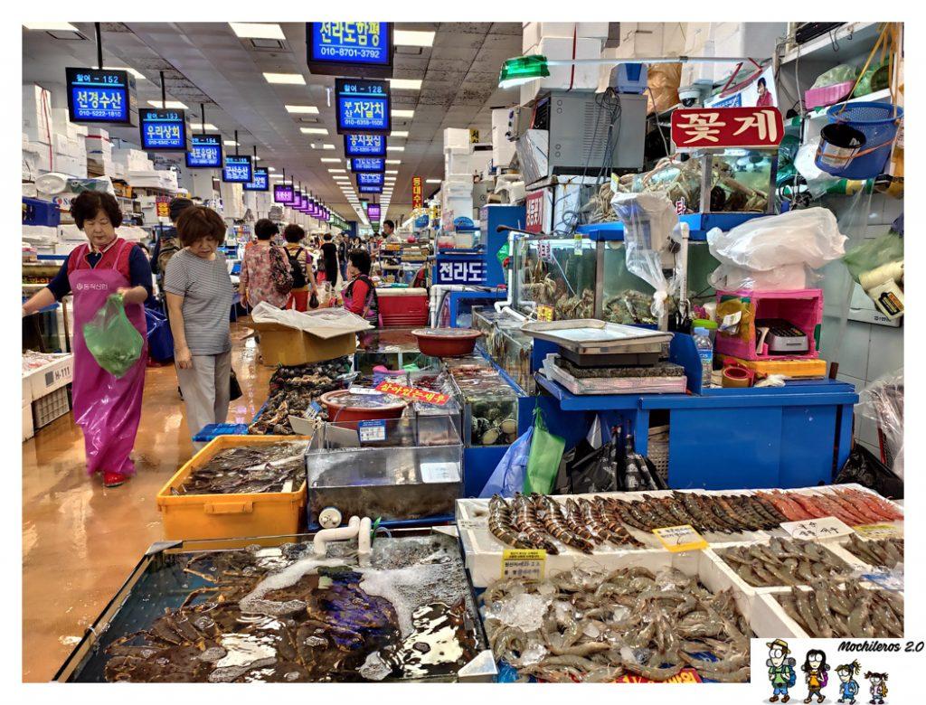 mercado pescado Noryangjin