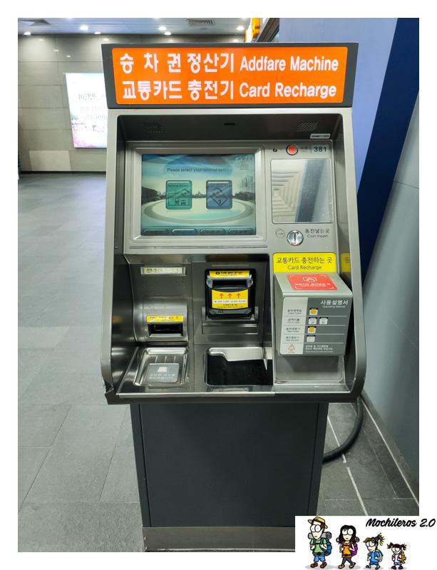maquina recarga t-money