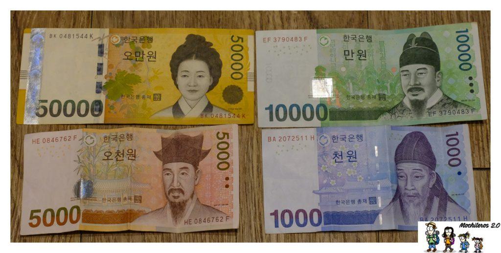 won dinero coreano