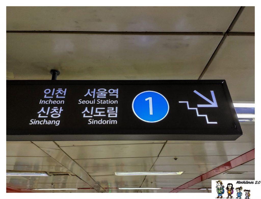 carteles metro seul