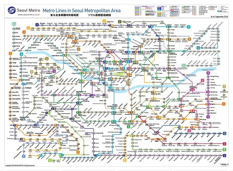metro seul mapa
