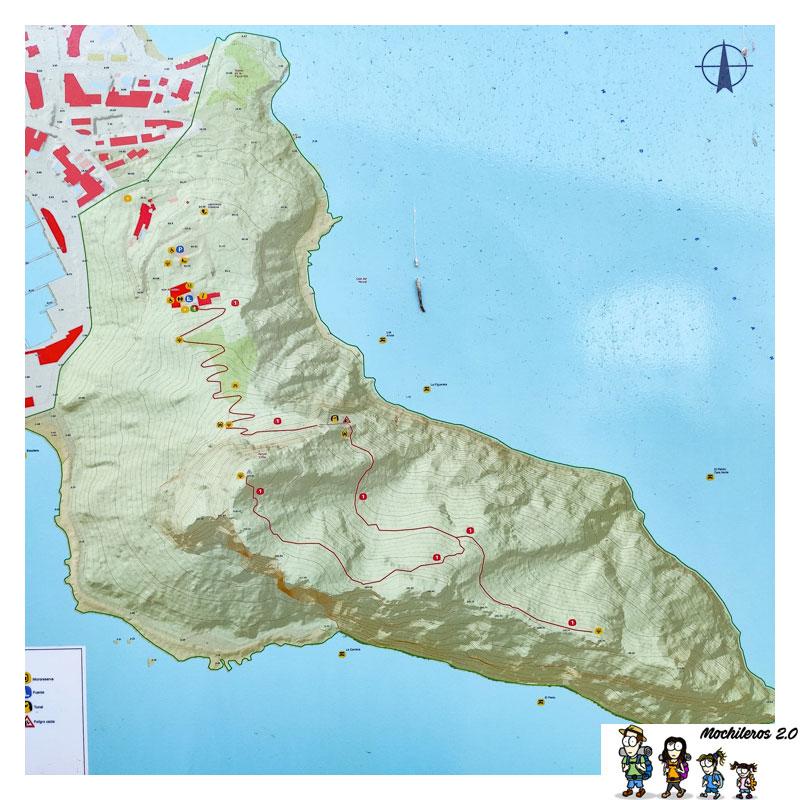 mapa ruta penon ifach