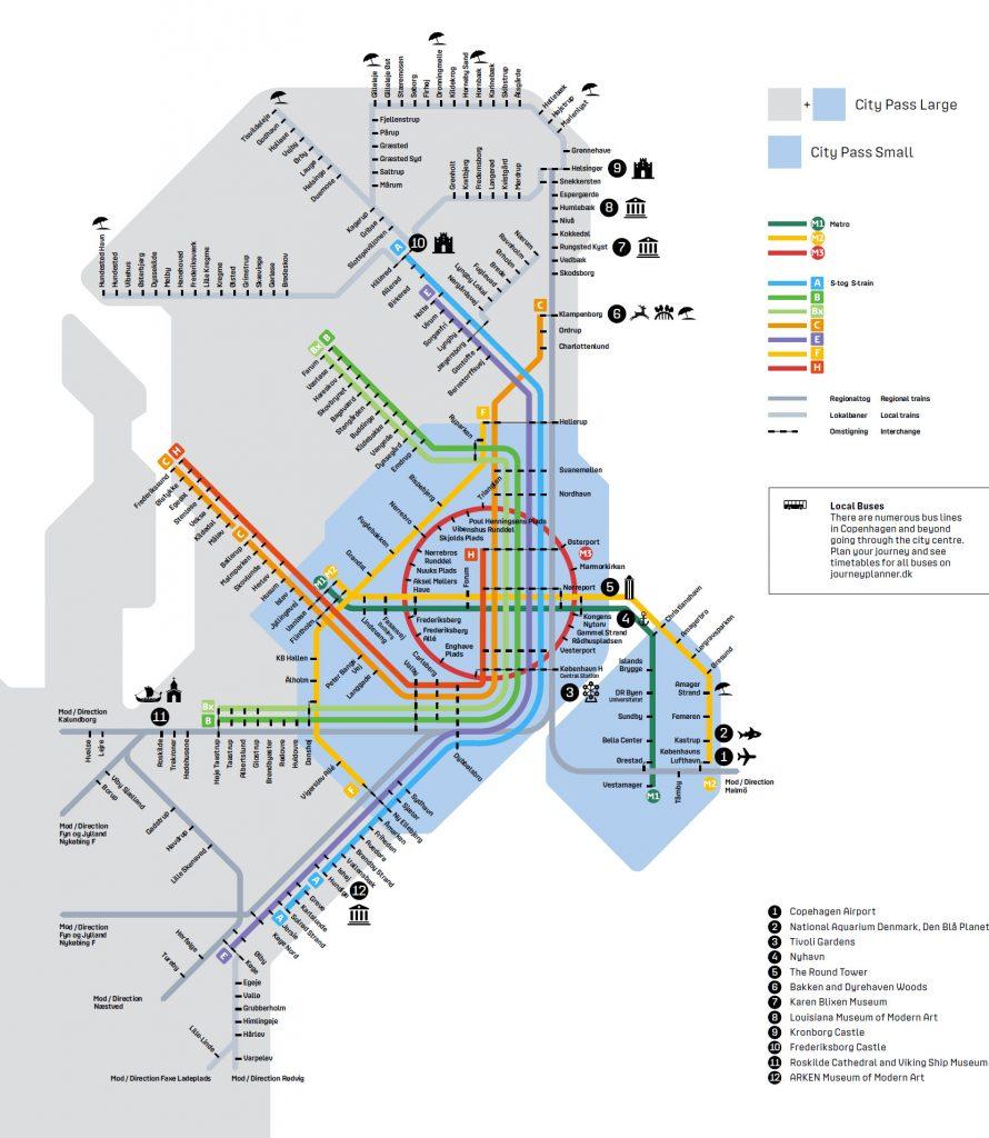citypass copenhague mapa