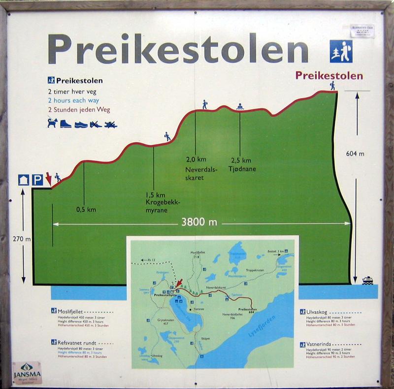 preikestolen mapa