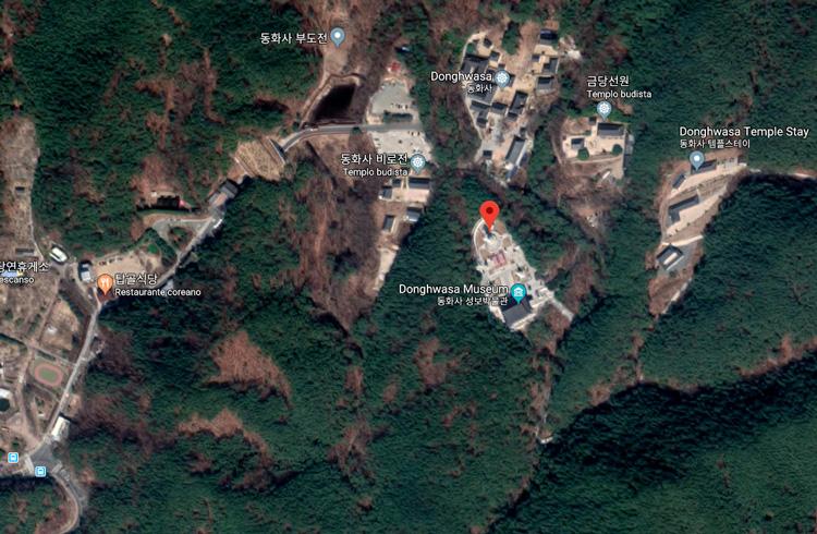 templo donghwasa mapa