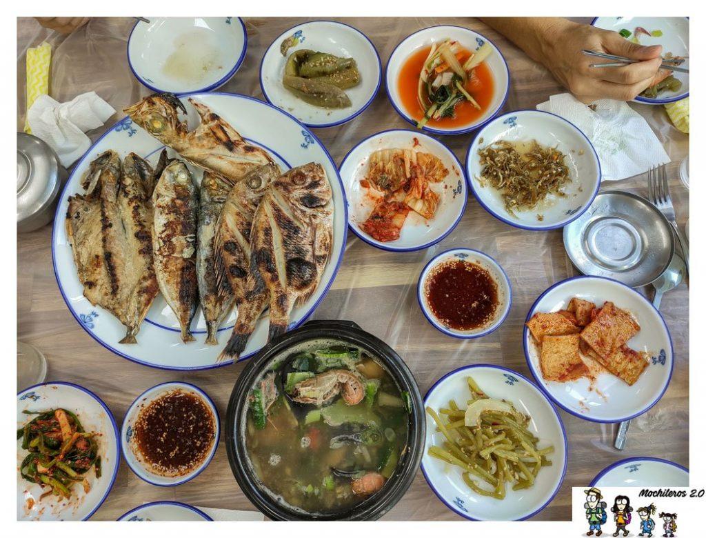 Nuestra comida en Tongyeong