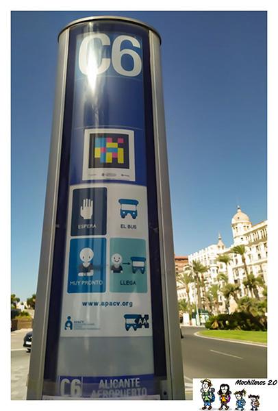 Autobús C6 entre el Aeropuerto de Alicante y el centro