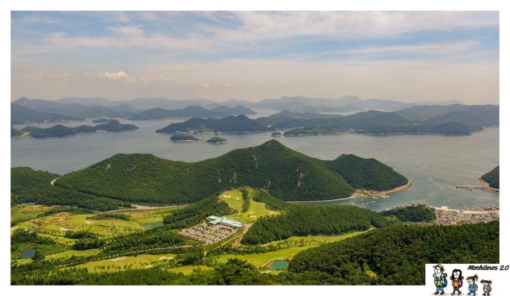 La preciosa costa de Tongyeong