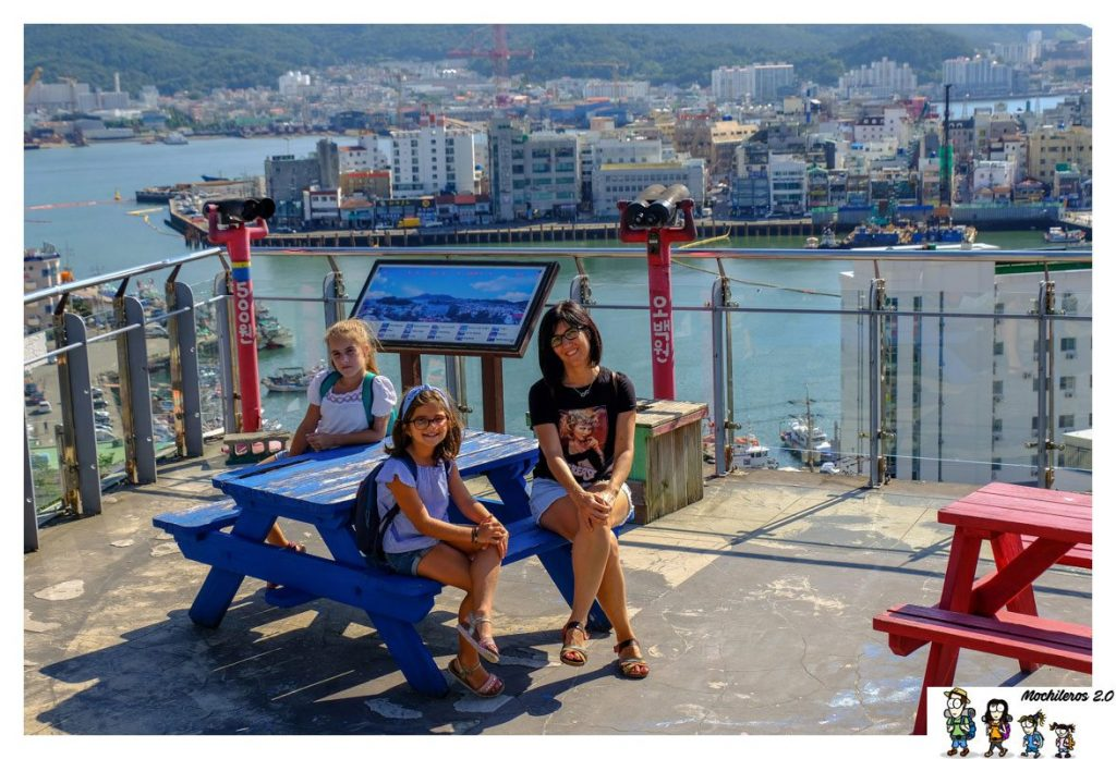 Vistas del puerto de Tongyeong