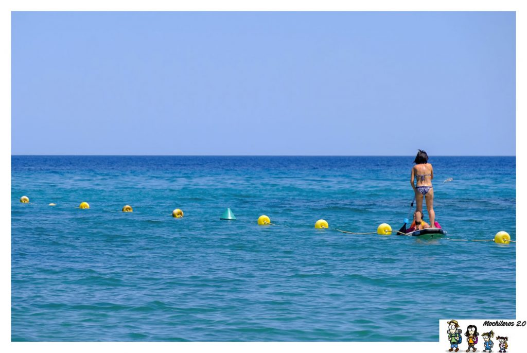 Paddle surf en Cala Fustera