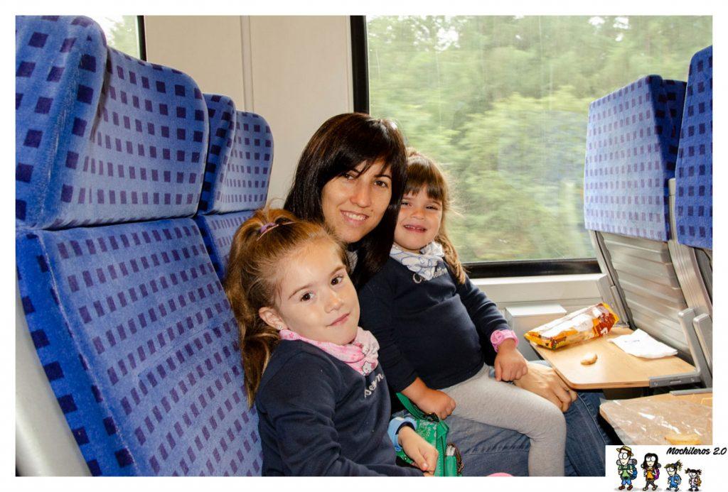 Tren regional entre Munich y Fussen