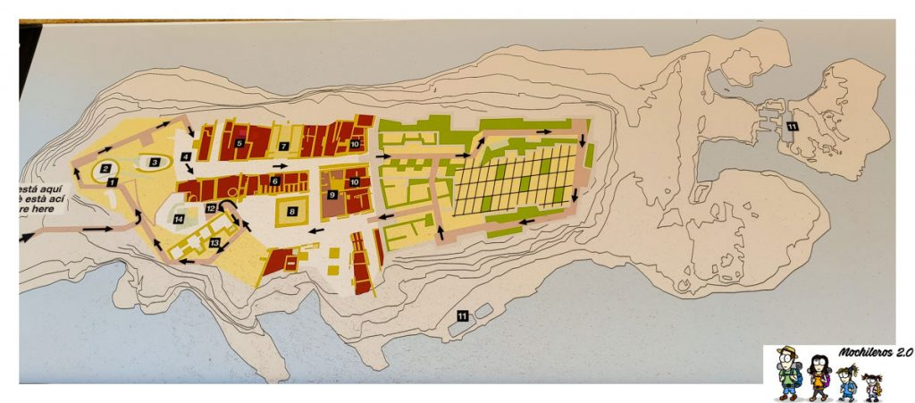 Mapa del yacimiento