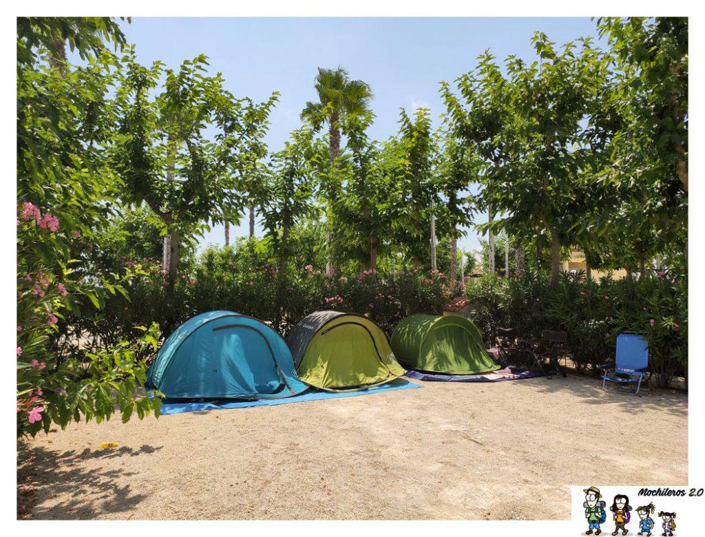 Una de las parcelas del camping