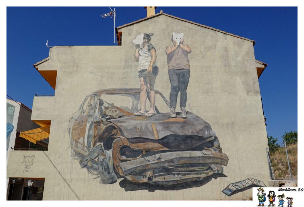 fanzara mural coche