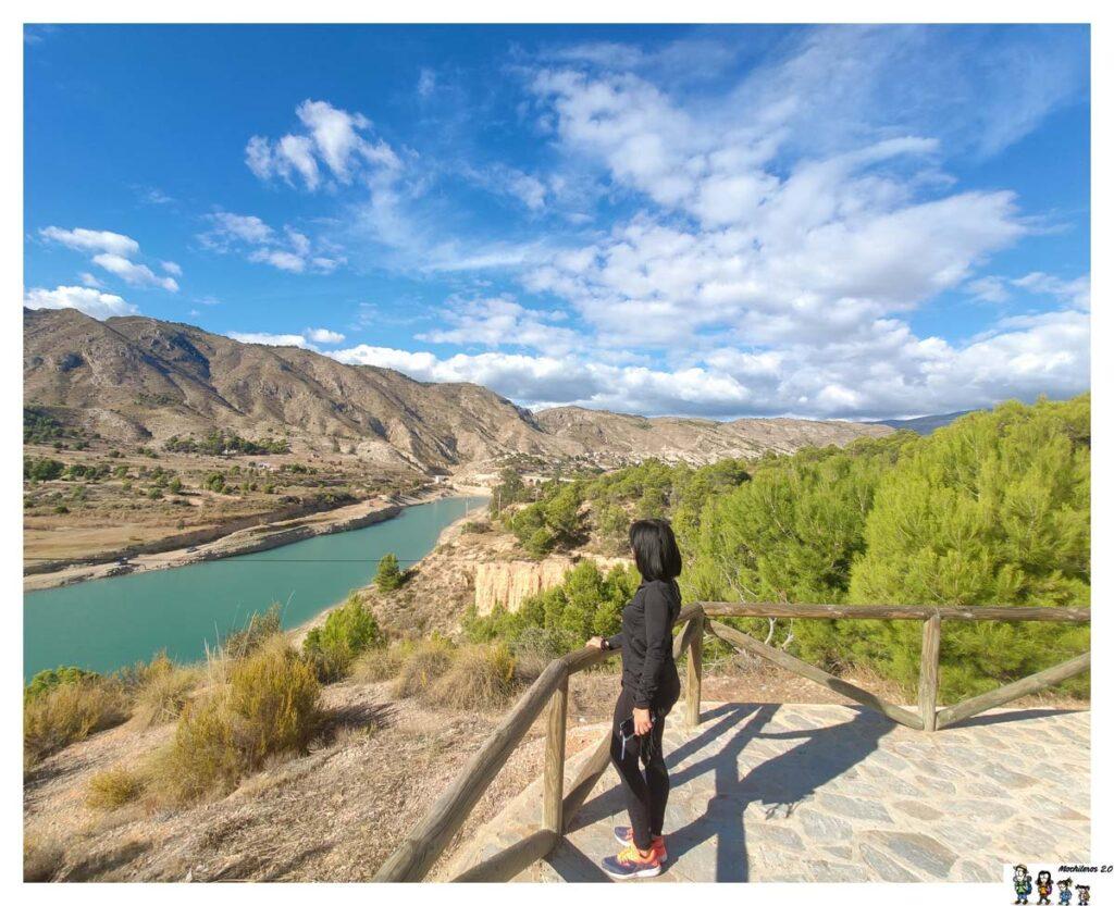 Vistas desde el mirador del pantano del Amadorio