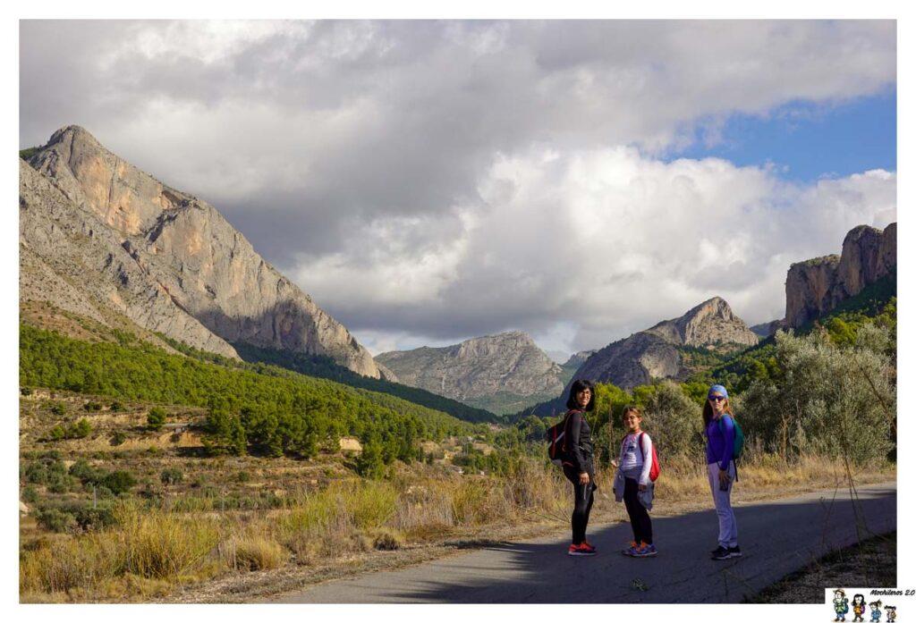 Vistas de las montañas durante la ruta