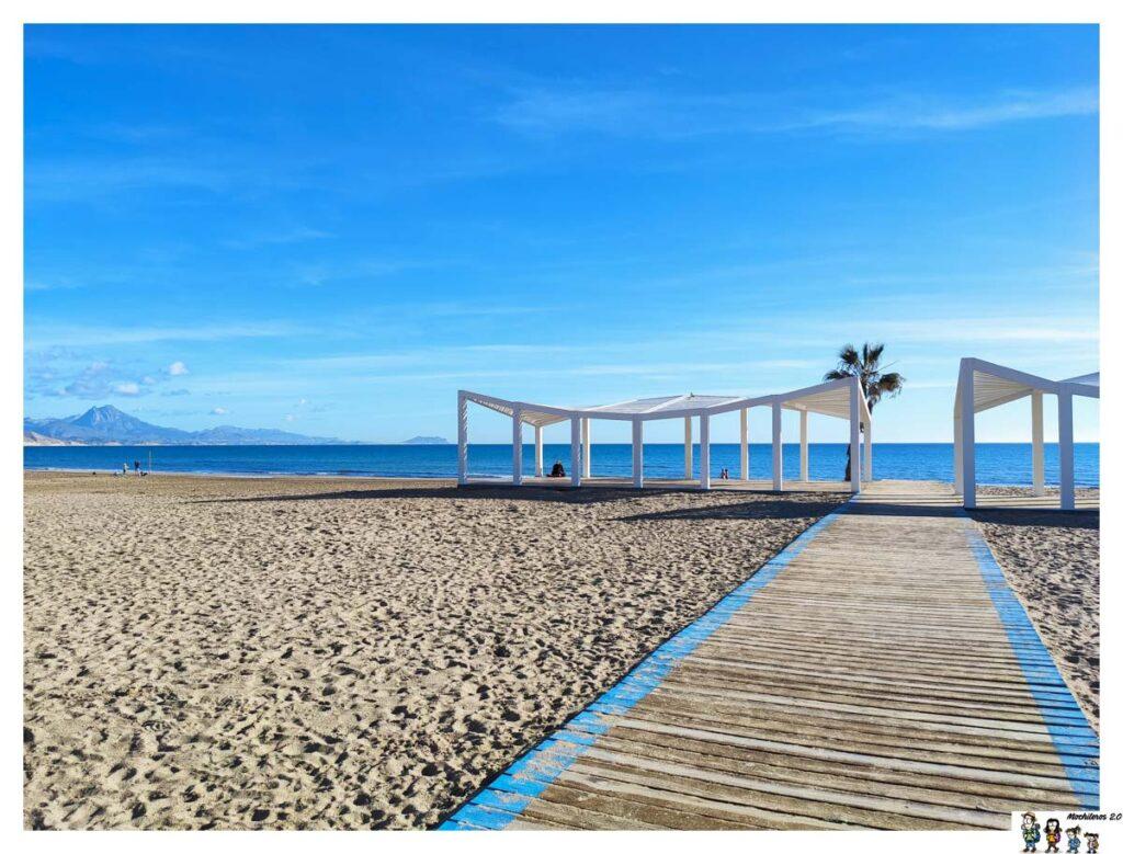 Zona discapacitados Playa San Juan