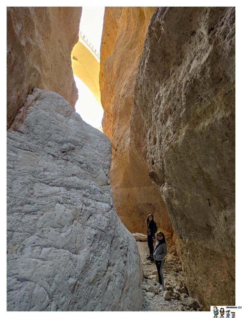 Las preciosas paredes del cañón
