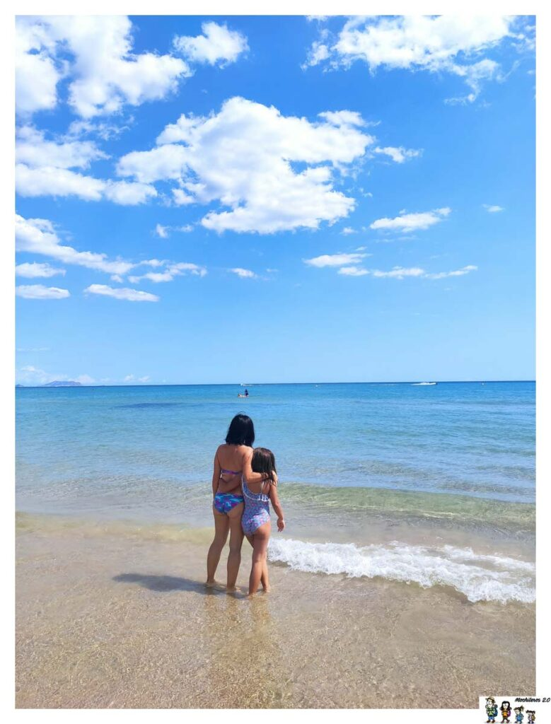 Bañito en la playa San Juan