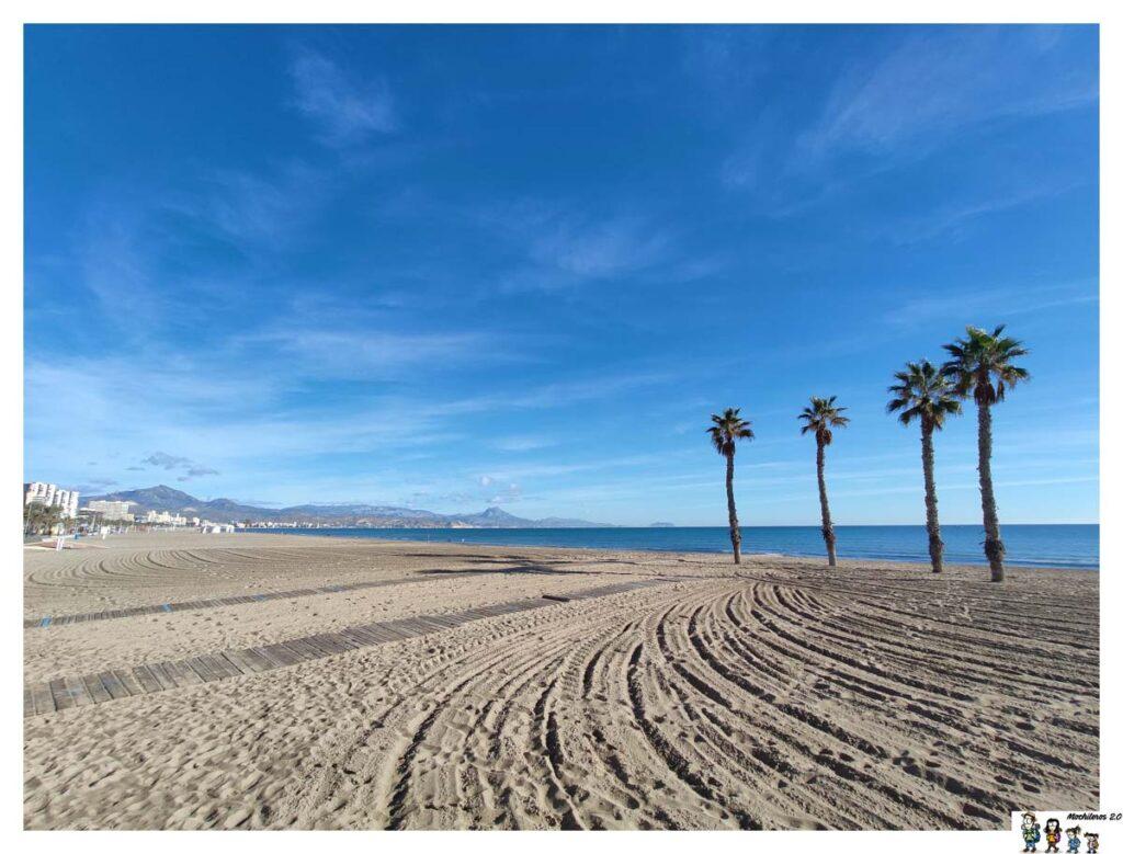 Zona de arena de la playa San Juan
